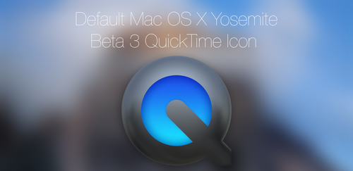 Default Mac OS X Yosemite Beta 3 QuickTime Icons by MrGoodGriefing