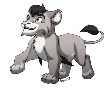 [ADOPT CLOSED] Gray male cub by Tanzani