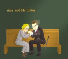Ana and Mr. Bates by melcasipit