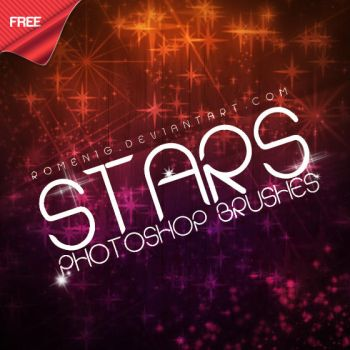 Amazing Stars Free Photoshop Brushes by Romenig