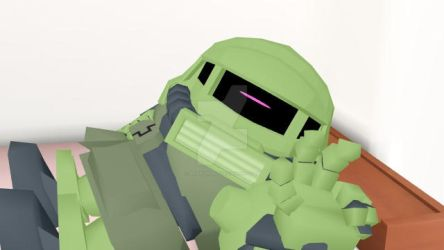 Zaku Why You Wake Me by Binaryrobot