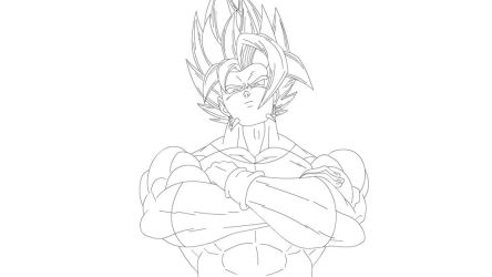 Fusion Xicor+ goku black ( free to color) by merimo-animation