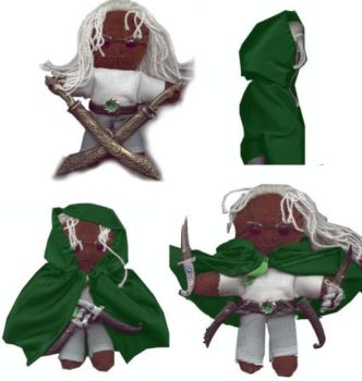My Plush Drizzt by Ollinatl