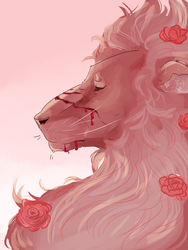 Lion painting by LiquefyTheChimera