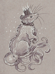 The Rat Queen- Drawtober by KeeperofAges