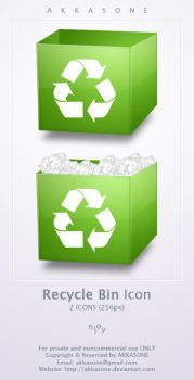 Recycle Bin Icon by akkasone