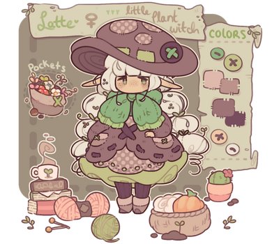 latte - little plant witch - reference by plushpon