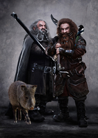 Oin, Gloin and Their Daemons by LJ-Todd