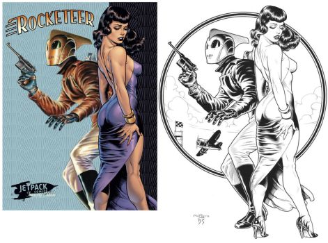 DAVE STEVENS ROCKETEER redo by SKY-BOY