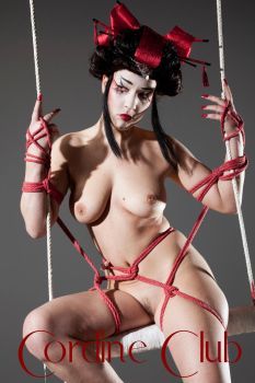shibari with Nikla Black 4 by CordineClub