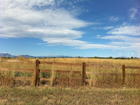 Fence and Mountains 2 by williamMalone