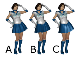Sailor Mercury Cosplay Costume for G8F (3 styles) by amyaimei