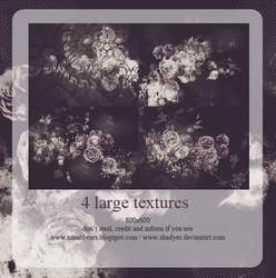 4 large textures by shadyes