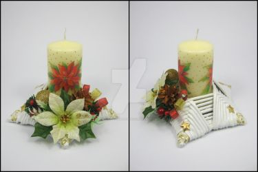 Candle stick (star-shaped) 5 by Ella-handmade