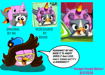 My reaction to Rovio's design on my Unihat by ANGRYBIRDSTIFF