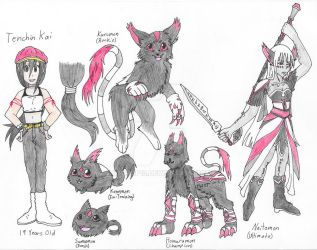 Digimon Persona Redesign - Colored by leopup13
