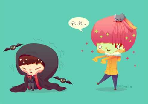 Infinite GyuJong - Halloween 2014 by Jadekyy