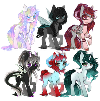 [CLOSED] Galaxy Pony Adopts auction: Points or PP by LunnaDeLuna