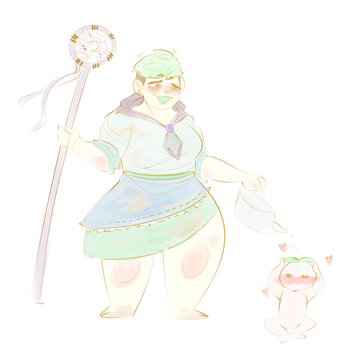 Plant Mage and Lil Sprout by AestheticCannibal
