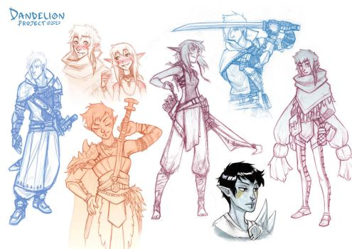 Character sketches by beacascabel