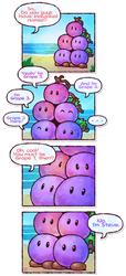 Paper Mario: The Grape Bob-ombs by Louivi