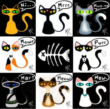 Bottle-Cat Collection by Mutley-the-Cat