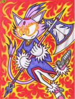 The Flaming Anger Of Blaze The Cat by AceOfSpeed94