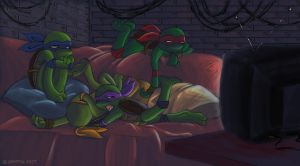 TMNT Toddlers - TV by xSkyeCrystalx