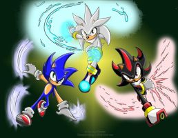 Sonic Trio by EliseLowing