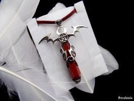 'Vampire blood', handmade sterling silver pendant by seralune