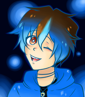SO BLUE  (redraw) by Dream-Yaoi