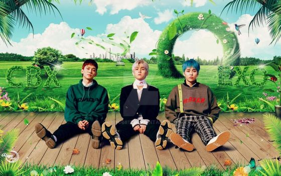 EXO-CBX_BLOOMING DAY #WALLPAPER by YUYO8812