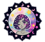 galaxy girl diva gif. by KirstyDMoon