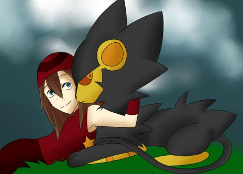 Pokemon OC and Her Luxray by AggressiveArtist