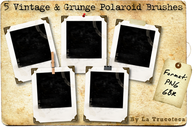 5 Grunge Polaroid Brushes by Latrucoteca