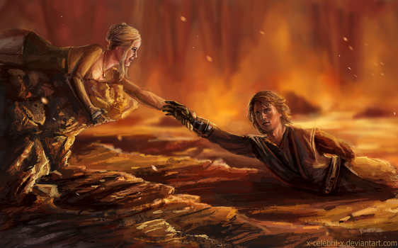 Loralyn and Anakin Commission by x-Celebril-x