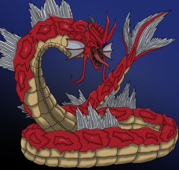 Red Gyarados by LordMacguffin