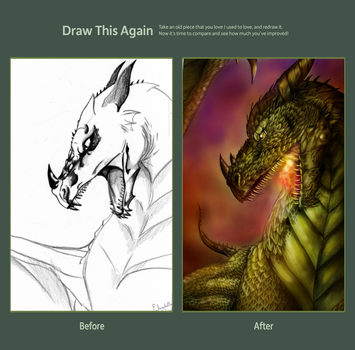 Draw this again - Dragon by FuriarossaAndMimma