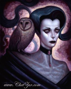 Lilith and Her Owl Familiar by chetzar