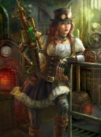 Steampunk Warrior  by uoelze