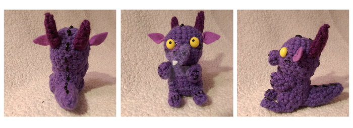 Tiny Dragon Crochet by LittleNii
