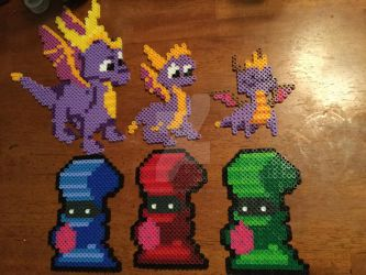 Spyro perler collection by ReneesCustoms