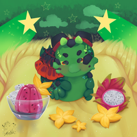 DTA Entry pacapillar - stars for me by LobaMagica
