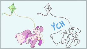 Fly a Kite - Pillowing YCH by CinnriStreusel