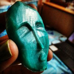 The FACE. (carving out of soap) :D by LegalKyoto
