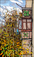 AUTUMN OUTSIDE MY BALCONY (SKETCH) by Badusev