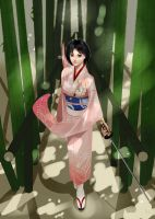 In the bamboo grove by Soured-Milk