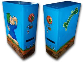 Lemmings Amiga Tower Casepainting by Ernie76