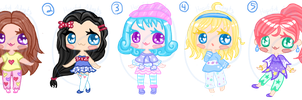 Chibi Girls 2 - OTA/NYP [OPEN 5/5] by HopefulAdopts