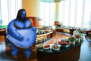 Blueberry Blimp At A Buffet by SBBeauregarde